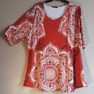 Lily by Firmiana tunic top, sz 3XL